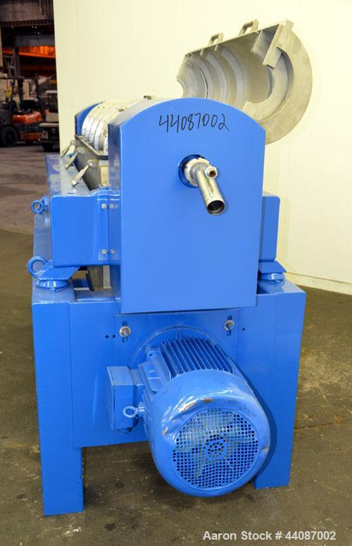 Used- Alfa Laval UVNX-418 Solid Bowl Decanter Centrifuge. 316 Stainless steel (product contact areas). Approximate 70mm sing...