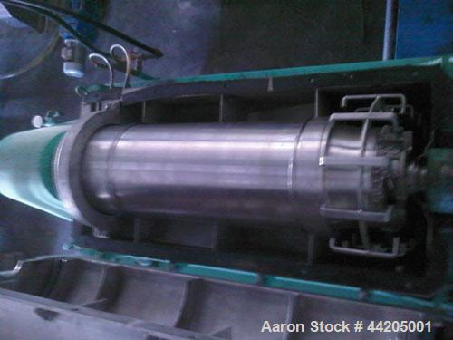 Used-Alfa Laval UVNX-418B-11G-8820-5001-10 Solid Bowl Decanter Centrifuge, 316 stainless steel (product contact areas). Max ...