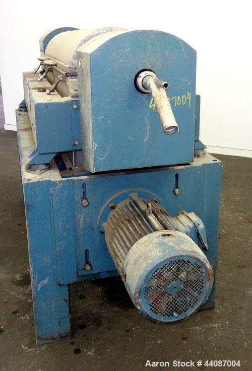 Used- Alfa Laval UVNX-418 (2 or 3 phase) Solid Bowl Decanter Centrifuge. 316 Stainless steel (product contact areas). single...