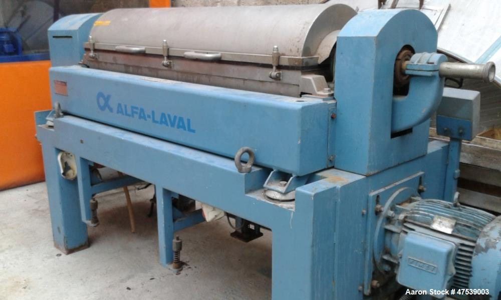 Used- Alfa Laval UVNX-418B-31G Solid Bowl Decanter Centrifuge