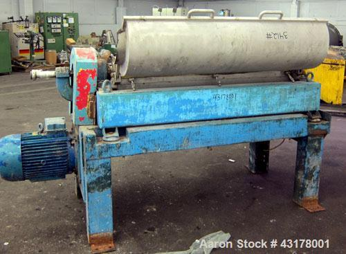 Used-Alfa Laval UVNX-418-B11 Solid Bowl Decanter Centrifuge (3 phase unit). 316 Stainless steel (product contact areas), max...