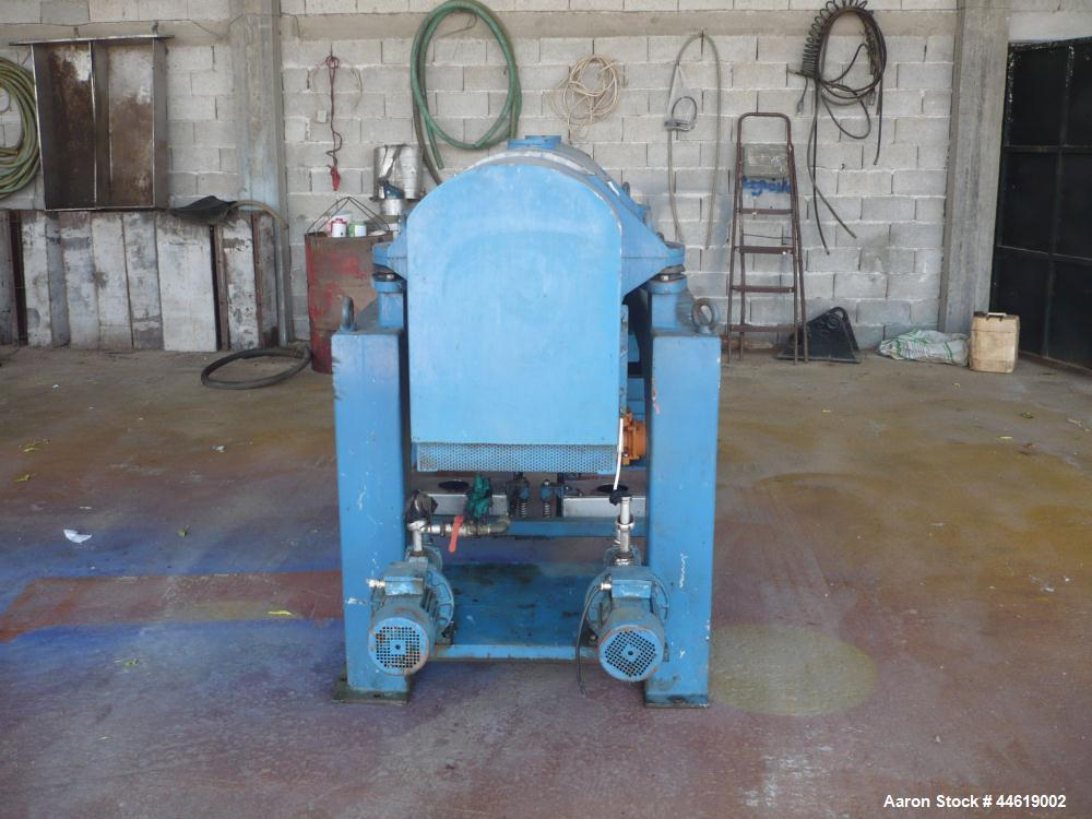 Used-Alfa Laval UVNX-418B-11G-T Decanter Centrifuge, 316 stainless steel (product contact areas).  Max bowl speed 4000 rpm, ...