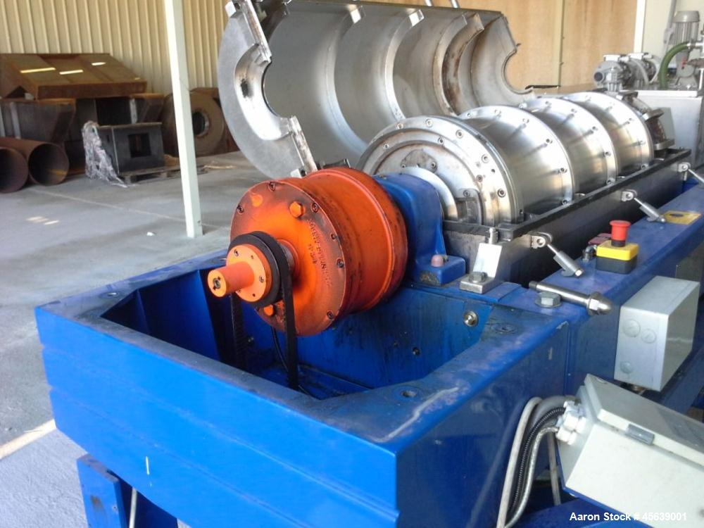 Used- Alfa Laval UVNX-419 Decanter Centrifuge. Three phase unit including variable speed control.