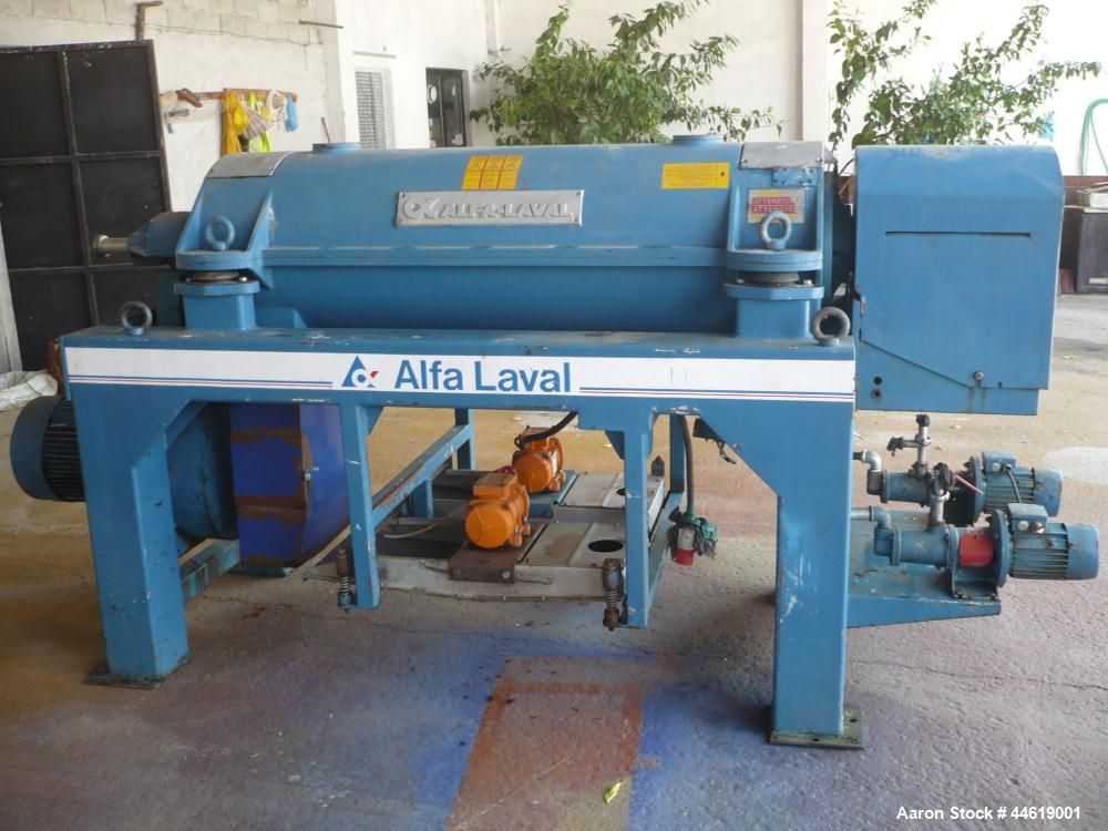 Used-Alfa Laval UVNX-718B-11G Solid Bowl Decanter Centrifuge, 316 stainless steel (product contact areas).  Max bowl speed 4...