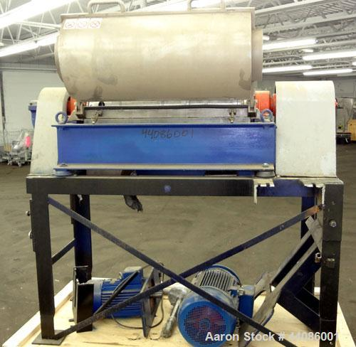 Used- Alfa Laval UVNX314 B-11/8820-4000-35 Solid Bowl Decanter Centrifuge. 316 Stainless steel product contact areas. Maximu...