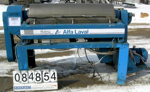 USED: Alfa Laval UVNX-418B-31G (2/3 phase) solid bowl decanter centrifuge. 316 stainless steel construction on product conta...