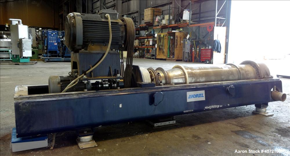 Used- Andritz D3LL-C30CHP Solid Bowl Decanter Centrifuge, 316 Stainless Steel (product contact areas). Maximum bowl speed 40...
