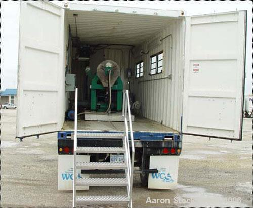 Used-20' Containerized Mobile Bargam 400H Decanter Centrifuge System, stainless steel construction (product contact areas), ...