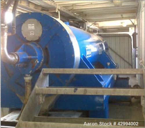 Used-40' Containerized Mobile Bargam 650LH Decanter Centrifuge System, stainless steel construction (product contact areas),...