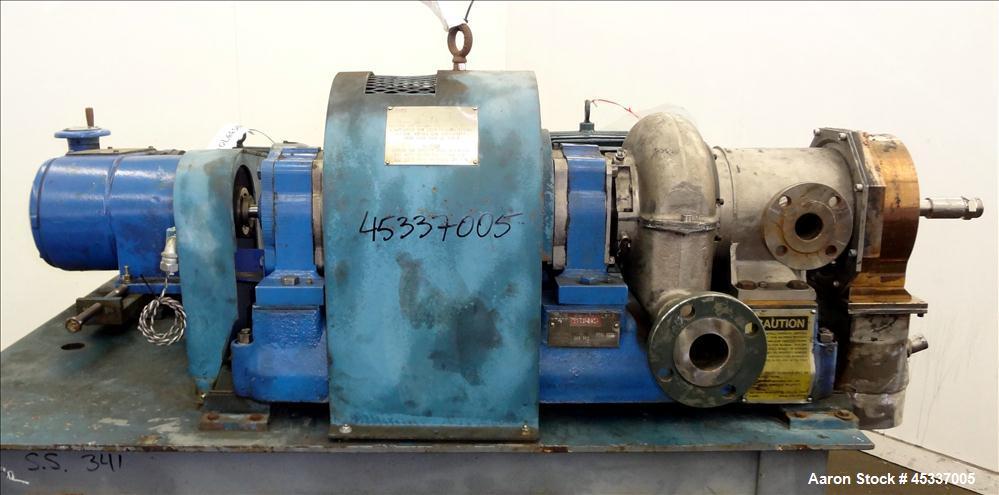 Used- Bird 0100 Solid Bowl Decanter Centrifuge
