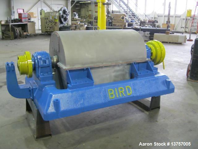 "Used- Rebuilt, Bird 24"" x 38"" Solid Bowl Decanter Centrifuge."