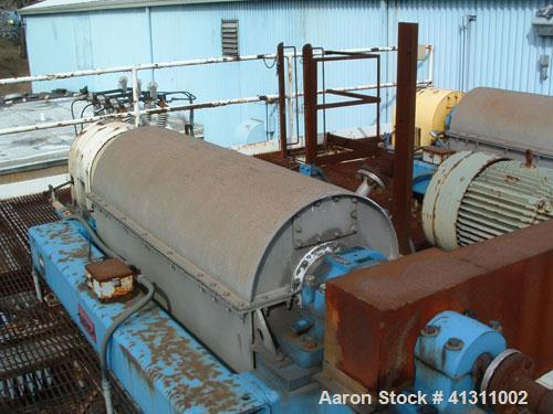 Used-Bird 2500 Solid Bowl Decanter Centrifuge, model 2500. 7.5 hp motor, complete with control system, frame, etc.