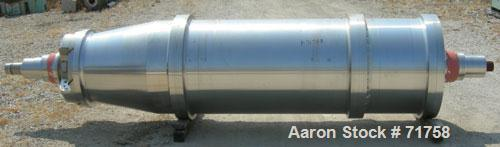 """USED- Bird Solid Bowl Decanter Centrifuge, Model 5100. 30"""" diameter x 120"""" long rotating assembly, 316 stainless steel const..."""