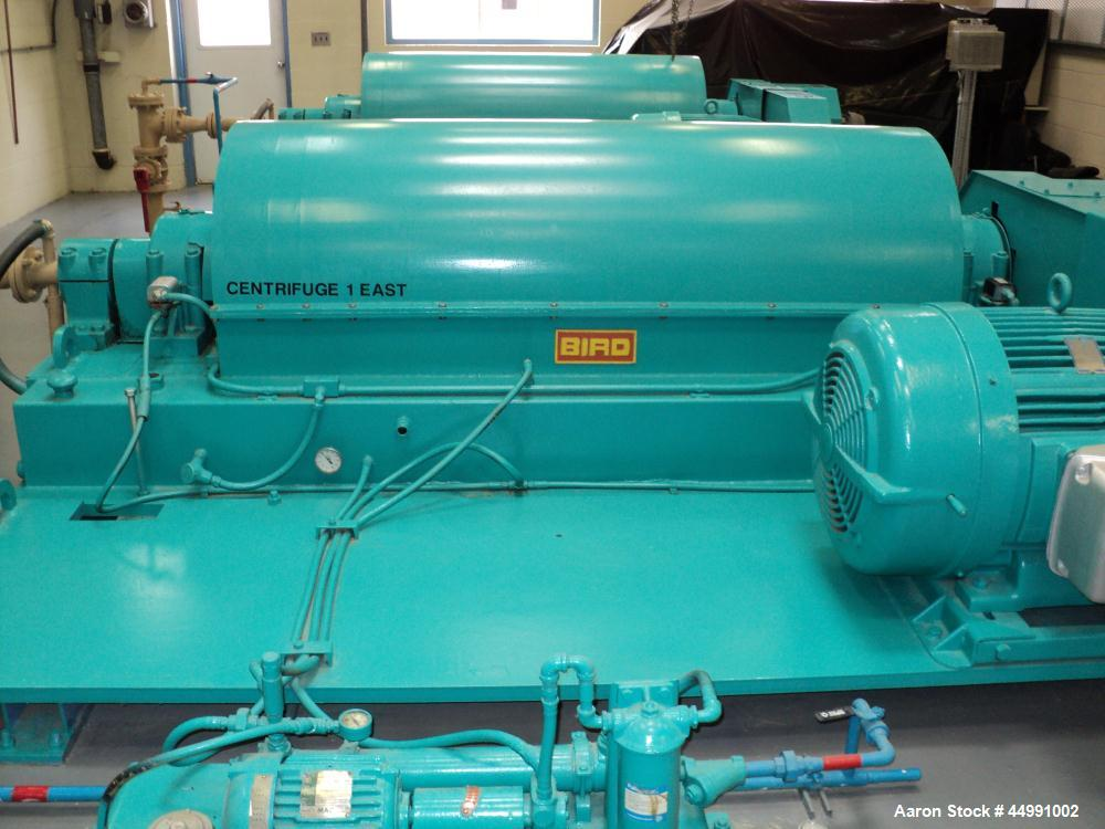 Used- Bird Solid Bowl Decanter Centrifuge, HB-3700