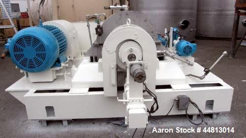 """Used- Bird 40"""" x 60"""" Solid Bowl Decanter Centrifuge; Bowl Speed-2200 Rpm; 75 Kw Drive."""