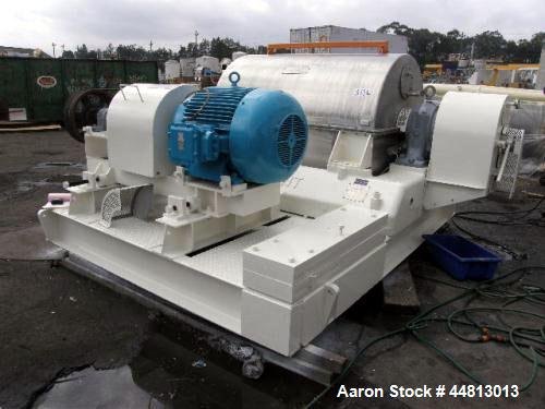 """Used- Broadbent 40"""" x 60"""" Solid Bowl Decanter Centrifuge. 110Kw at 1475 Rpm motor. Max speed 1300 Rpm. Max load 1470 pound. ..."""