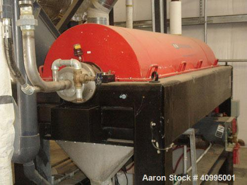Used-Centriquip CQ-5000 Solid Bowl Decanter Centrifuge, Includes electrical panel with PLC controls. Has less than 100 hours.