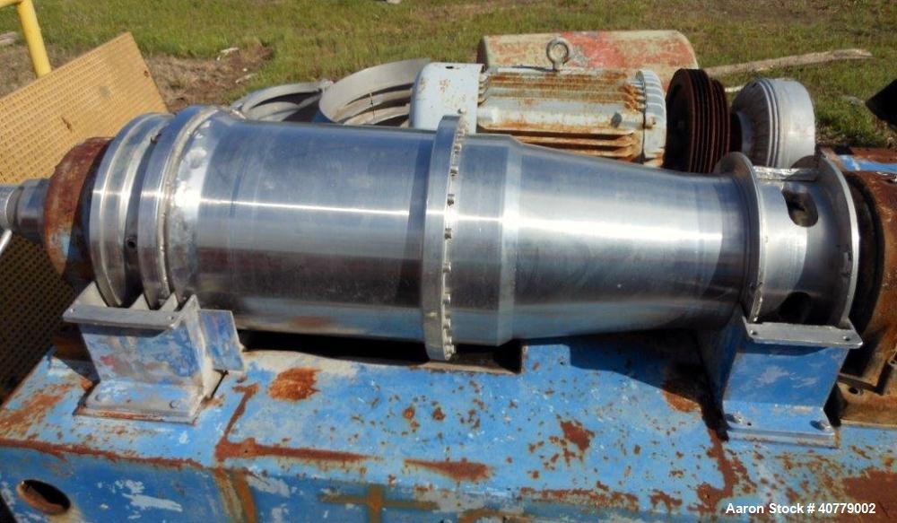 Used- Stainless Steel Bird/Flottweg Solid Bowl Decanter Centrifuge