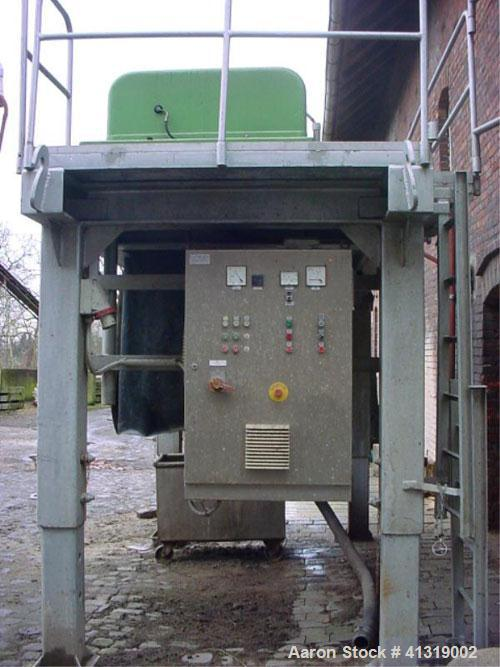 "Used-Flottweg decanter centrifuge, model 42-4/451. 3500 rpm, bowl 420 mm (16.5"") diameter and 1755 mm (69"") in length, wall ..."