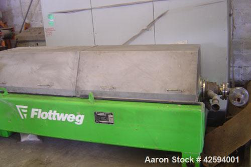 Used- Flottweg Sorticanter K4D/444 with control panel. Specifically designed for the plastics recycling industry, but materi...
