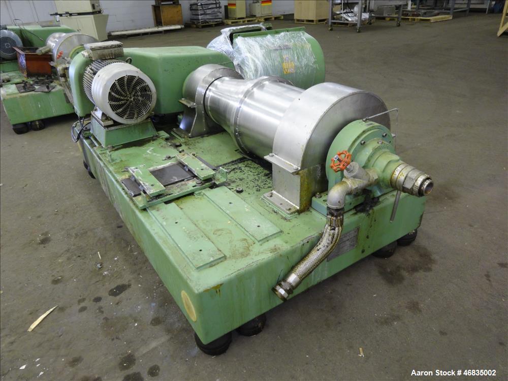 Used- Flottweg Z42/3-411 Tricanter Solid Bowl Decanter Centrifuge