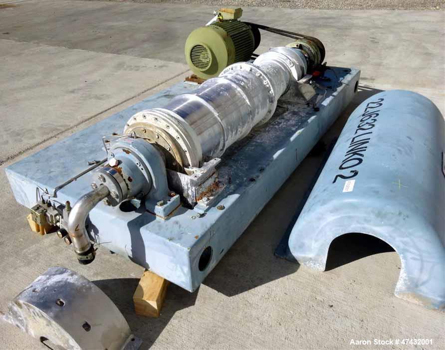 Used- Flottweg Z32-4/451 Solid Bowl Decanter Centrifuge.