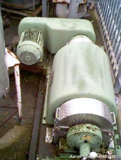 """Used-Flottweg Scroll Type Decanter Centrifuge, Model Z3L, stainless steel. Inner diameter 16.5"""" (420 mm), length 49.6"""" (1260..."""