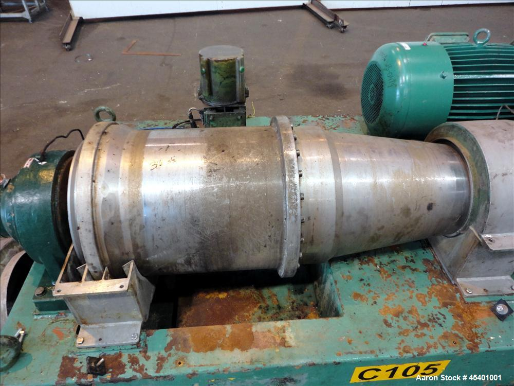 Used- Stainless Steel Flottweg Z3L Decanter Centrifuge