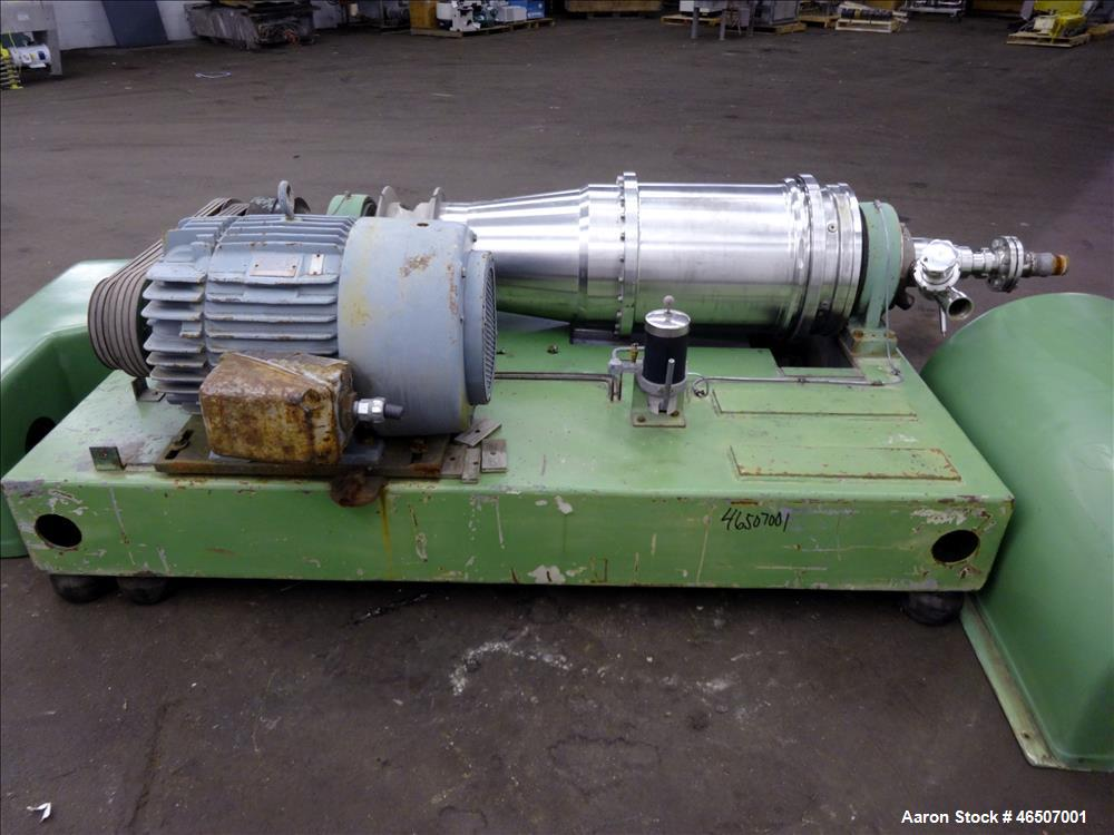 Used- Bird/Flottweg 2550 (2 or 3 phase) Solid Bowl Decanter Centrifuge