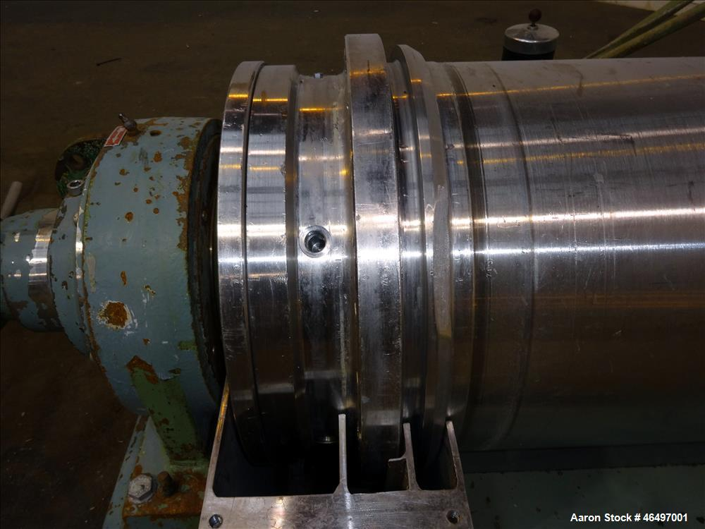 Used- Flottweg Z42/3 Solid Bowl Tricanter Centrifuge. 316 Stainless steel construction (product contact areas), max bowl spe...