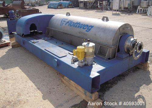 """Used- Flottweg  Z53-4/451 Solid Bowl Horizontal Decanter Centrifuge, 2205 stainless steel (product contact areas), 10"""" singl..."""