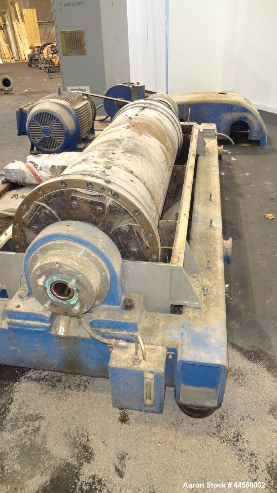 Used- Flottweg Z53-4/454 Solid Bowl Horizontal Decanter Centrifuge. 2205 Stainless steel construction (product contact areas...