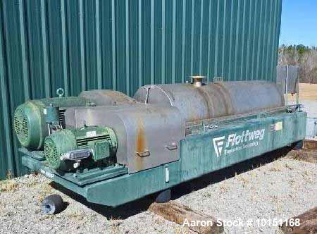 Used- Stainless Steel Flottweg Solid Bowl Decanter Centrifuge,  Z6E-4/454