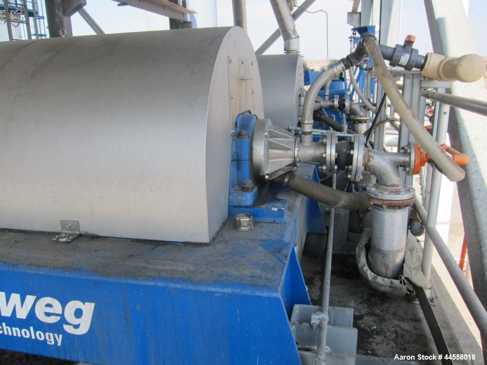 Used-Flottweg Z73-4/454 DDGS Simp 4.12. Solid Bowl Horizontal Decanter Centrifuge. 316 Stainless steel construction (product...