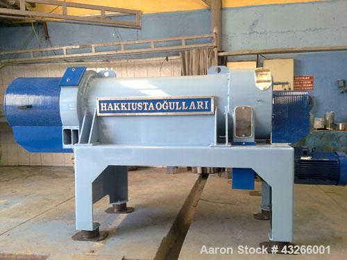 Used-Hakkiusta Ogullari USTA-3 Solid Bowl Decanter Centrifuge.  2 Phase separation, food grade stainless steel contact parts...