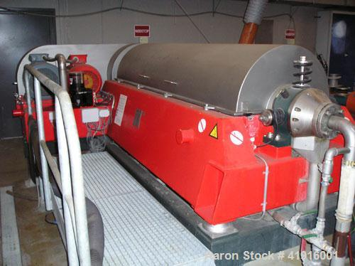 """Used-Hysep HD-54-X/2  Solid Bowl Decanter Centrifuge. Stainless steel construction (product contact areas), bowl length 79"""" ..."""
