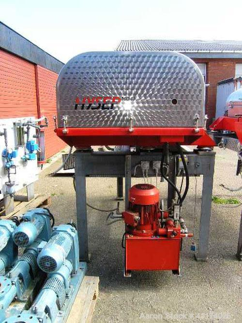 Used-Hysep DDS MD-43C Sludge Dewatering Decanter. Capacity 308.6 lbs (140 kg) dry solids per hour, EMOD type 200L/4T motor, ...