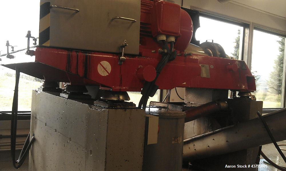 Used-Hysep MD 44 C2 Sludge Dewatering Decanter, 3600 rpm bowl speed, capacity 308.6 lbs (140 kg) dry solids per hour, 220/38...
