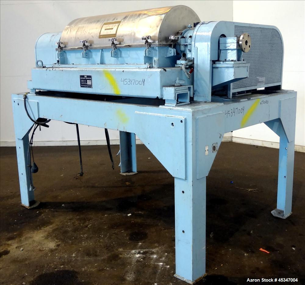 Used- Stainless Steel Solid Bowl Decanter Centrifuge, IHI HS-325FS