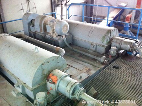 Used- KHD Humboldt Wedag Solid Bowl Decanter Centrifuge