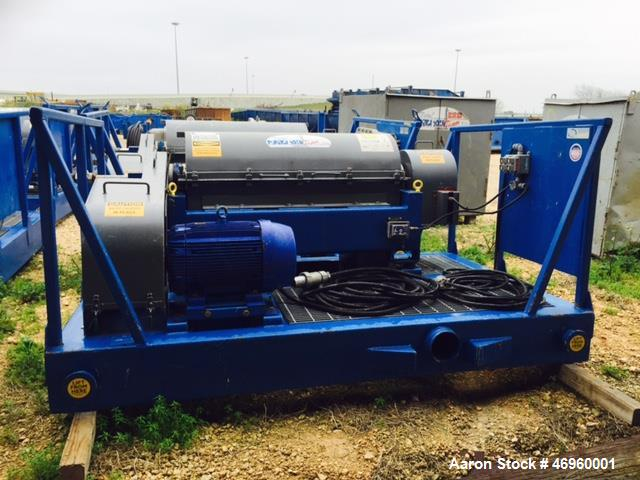 Used- Kemtron Barite Recovery and Dewatering Centrifuge, Model KT-1448HD. Maximum G Force 2100, maximum speed 3300 rpm. Stai...