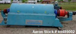Used-Sharples PM-75000 Super-D-Canter Centrifuge, stainless steel construction(product contact areas), max bowl speed 2600 r...