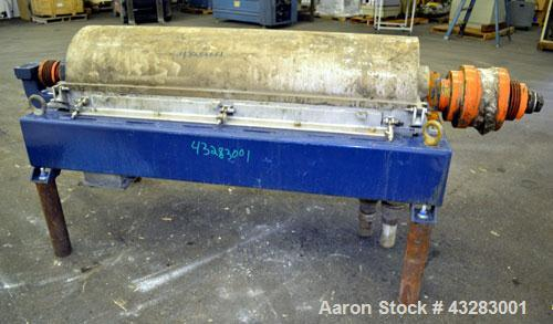 Used- Alfa Laval NX-418 (2 or 3 phase) Solid Bowl Decanter Centrifuge. 316 Stainless steel construction (product contact are...