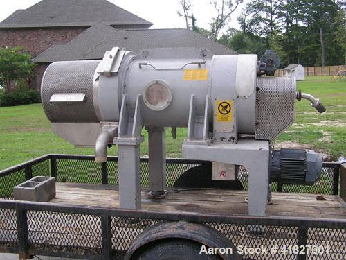Used-Pieralsi Decanter Centrifuge, Model FP600/M. 4100 bowl rpm, 11-18 kW, 608m3/hour capacity, 353 mm diameter, 2250 mm lon...