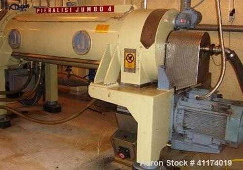 Used-Pieralisi Jumbo 4 Decanter Centrifuge, stainless steel construction on product contact areas, capacity 55 cubic meters/...