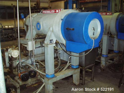 USED: Pieralisi Major 2 solid bowl decanter centrifuge, stainlesssteel construction on product contact areas. Sanitary confi...