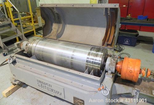 Used- Sharples PM-35000 Super-D-Canter Centrifuge, max bowl speed 3250, single lead conveyor w/STC wear protection tiles, 36...