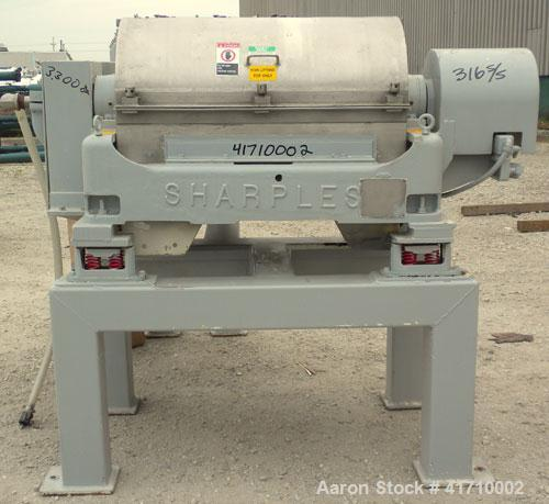 "Used- Sharples ""Sanitary"" P-3000 Super-D-Canter Centrifuge, 316 stainless steel construction (product contact areas). Maximu..."