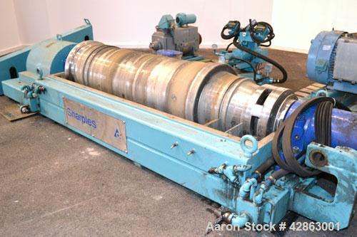 Used- Sharples DS-406 Super-D-Canter Centrifuge. 317 Stainless steel construction (product contact areas), maximum bowl spee...