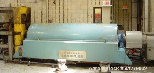 Used-Sharples DS-706 Super-D-Canter Centrifuge, stainless steel construction on product contact areas. Max bowl speed 2800 r...